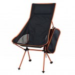 FOLDING CHAIR - spalliera ALTA - NERO-ARANCIO