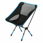 FOLDING CHAIR - NERO-AZZURRO